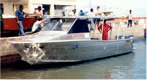 7.5m (24.5ft) Aluminium dive vessel
